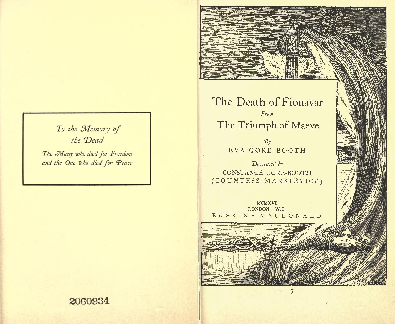 Eva Gore-Booth, Constance Markievicz and 'The Death of Fionavar'