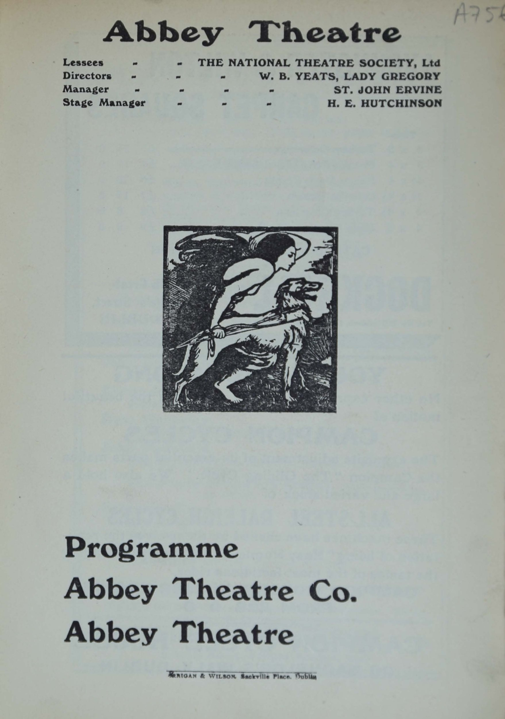 Object: Abbey Theatre programme