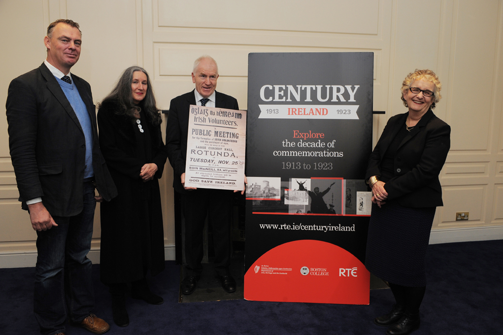 Minister Deenihan launches 'Irish Volunteers' edition of Century Ireland