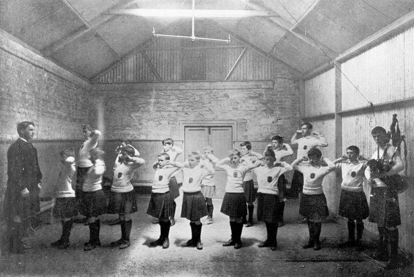 Students of St Enda's School at drill in 1909