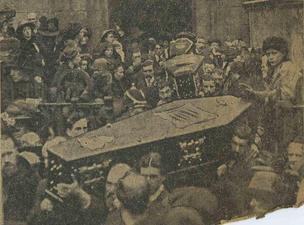 Funerals of the victims of the Church Street tenement collapse held