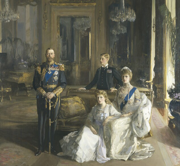 A painting of the royal family in 1913 by Sir John Lavery