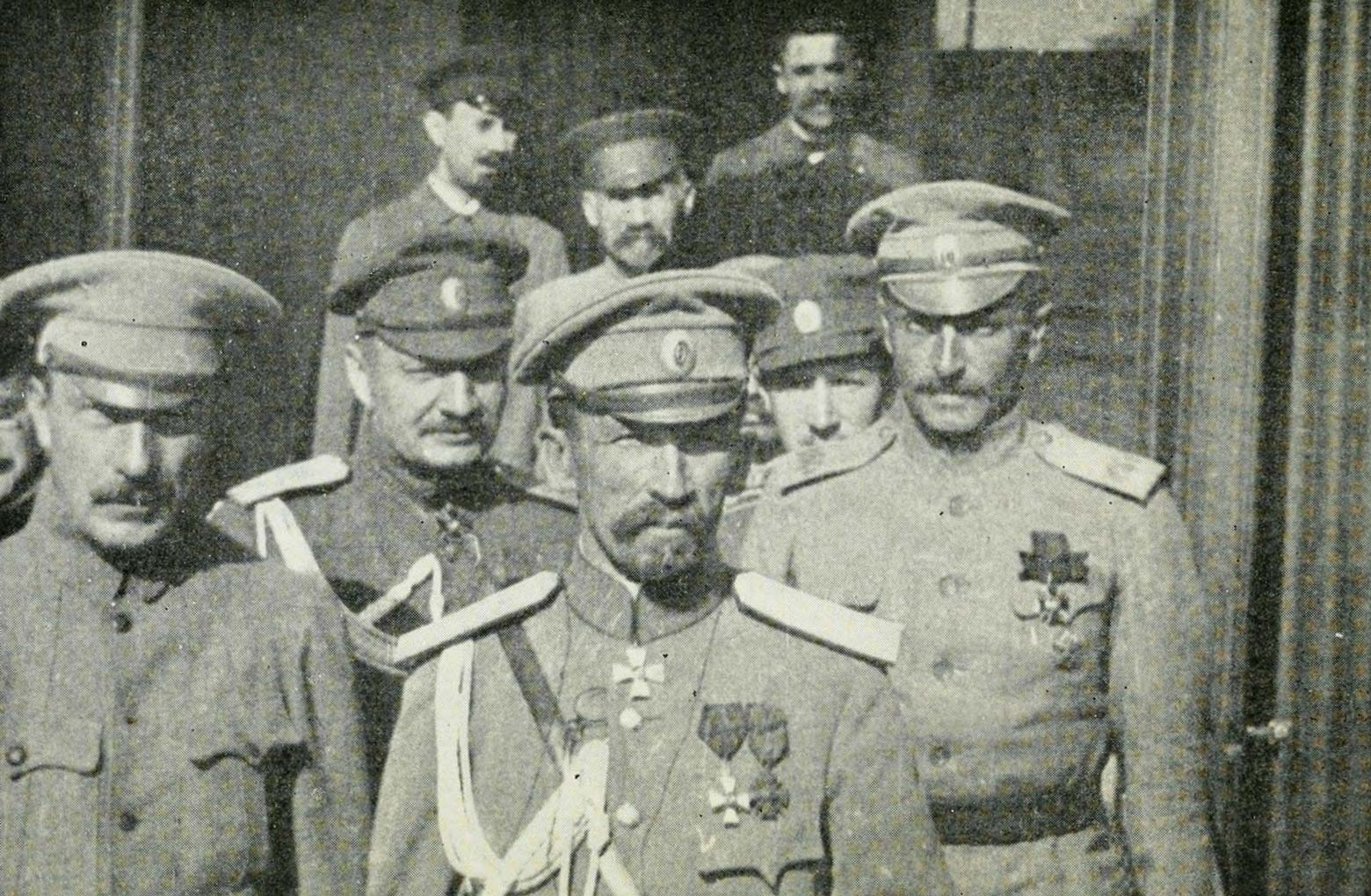 General Korniloff and his staff