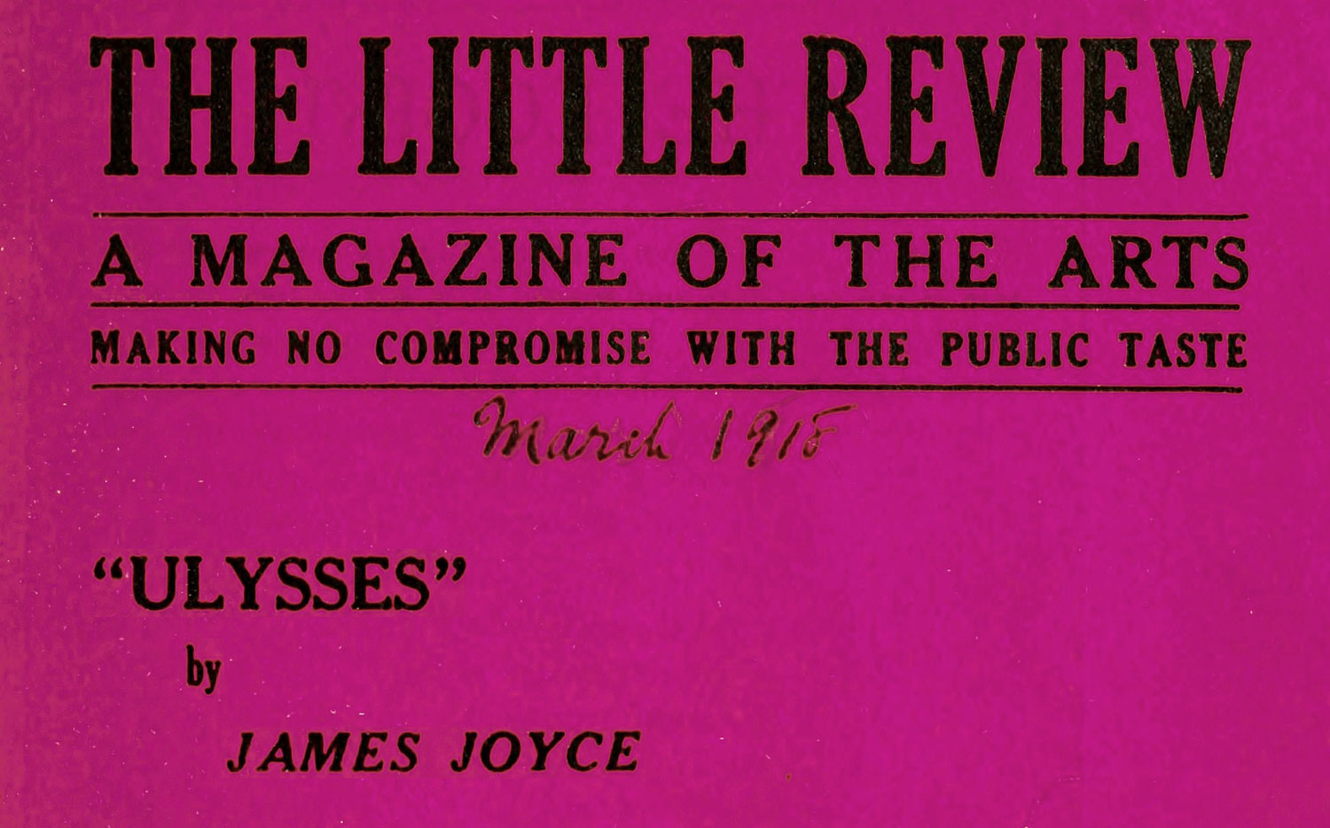 Ulysses' journey - the first sightings of James Joyce's masterpiece