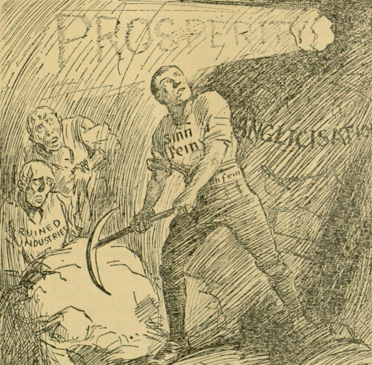 Sinn Féin cartoon from 'The Republic', 24 January 1907