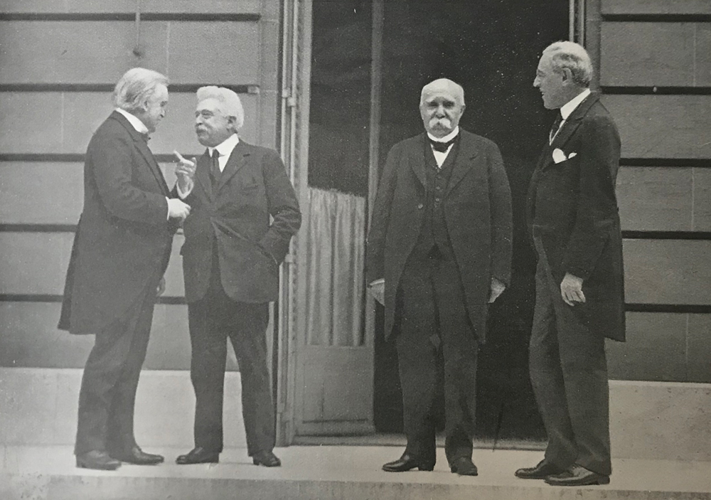 'The big four' at the Peace Conference - L-R: British Prime Minister David Lloyd George, Italian Prime Minister Vittorio Orlando, French Prime Minister Georges Clemenceau and US President Woodrow Wilson