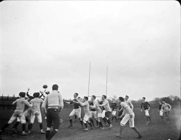 A rugby scene from the early 1900s. The North of Ireland Football Club, home to at least 15 Irish internationals over the years, has decided to show their 'devotion' to Edward Carson and unionism by withdrawing from competition.
