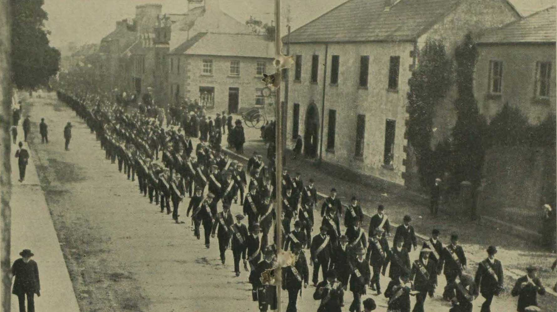 Ulster Volunteers drill at Cookstown