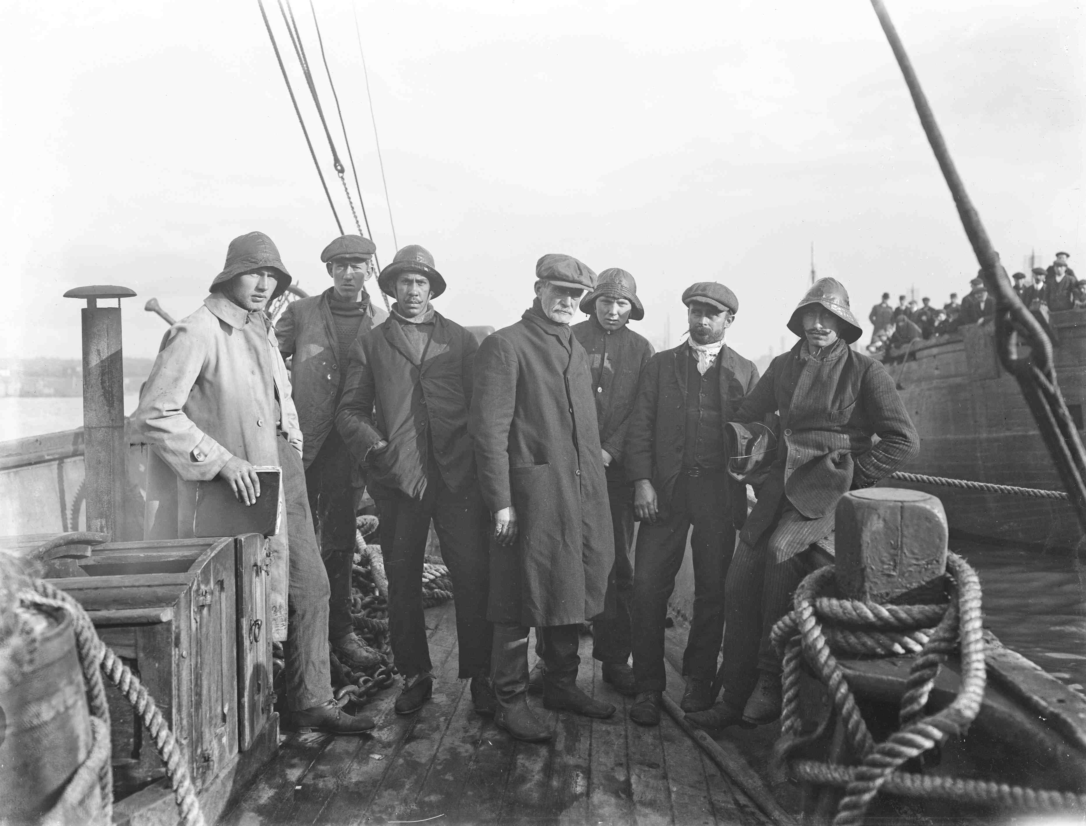 Photograph of Ten dead in Fethard sea disaster