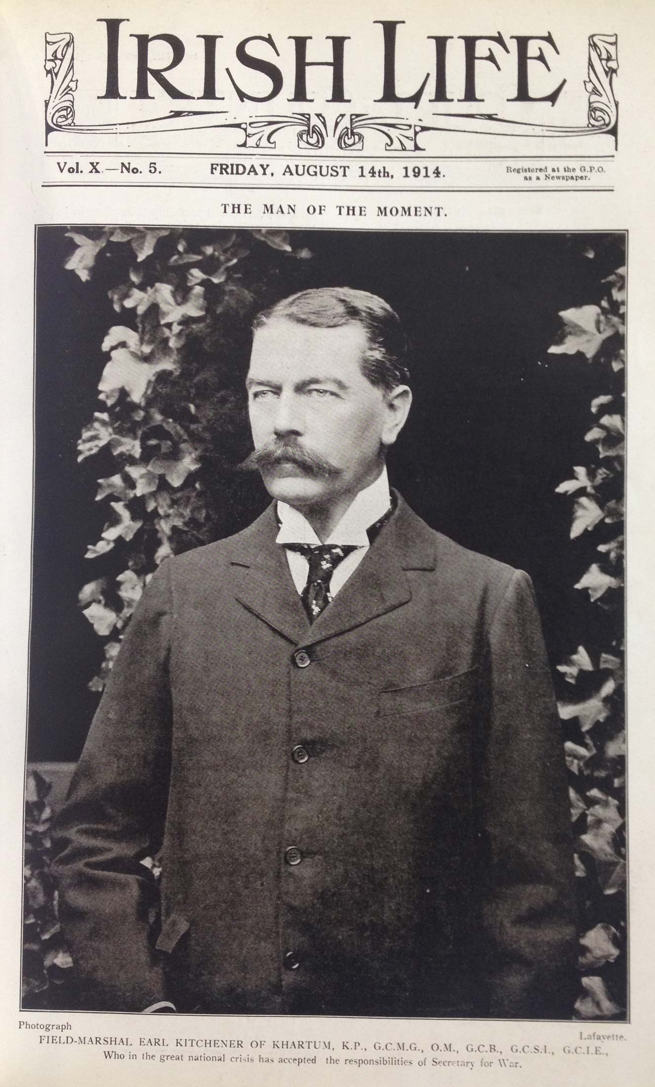 Lord Kitchener thanks British press for their loyalty