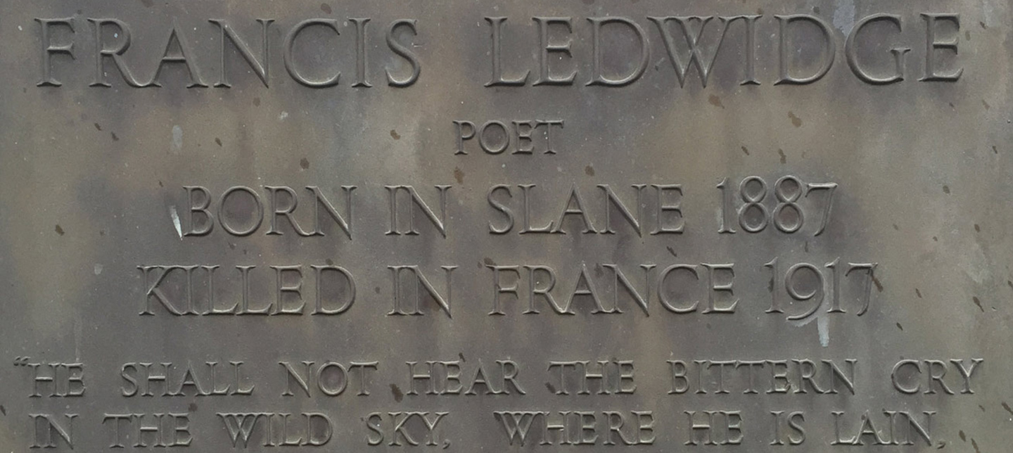 Francis Ledwidge: War Poet