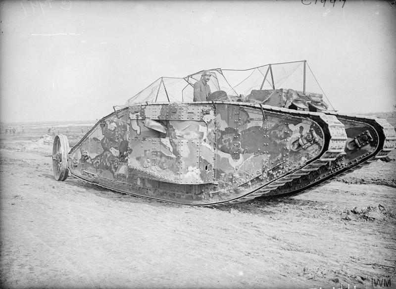 First tanks used on battlefield in France