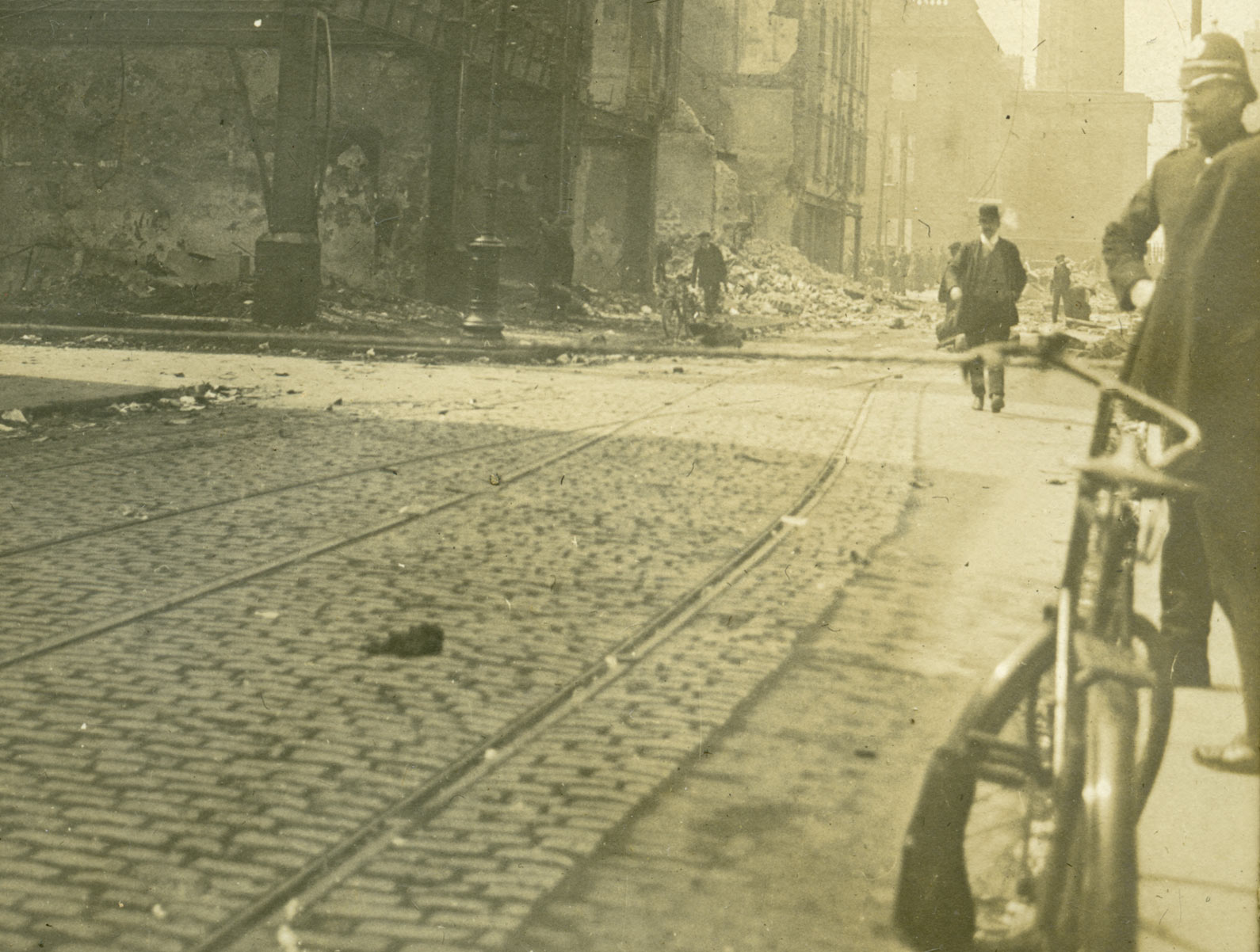 Police officer on duty in the days after the Easter Rising was suppressed