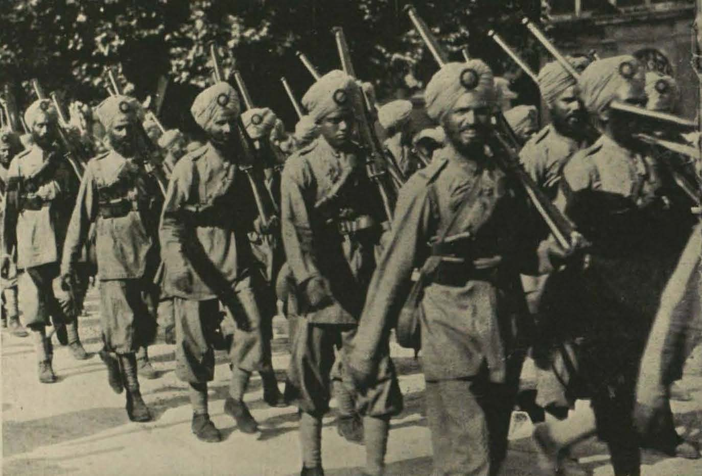 First Indian troops arrive in Europe