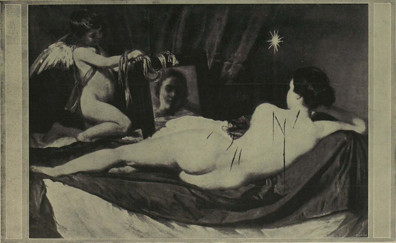 Famous painting mutilated by suffragette