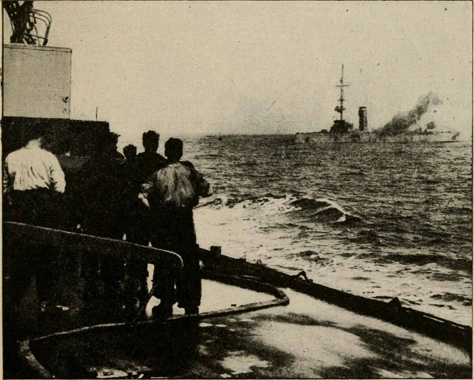 60 British casualties in first naval battle