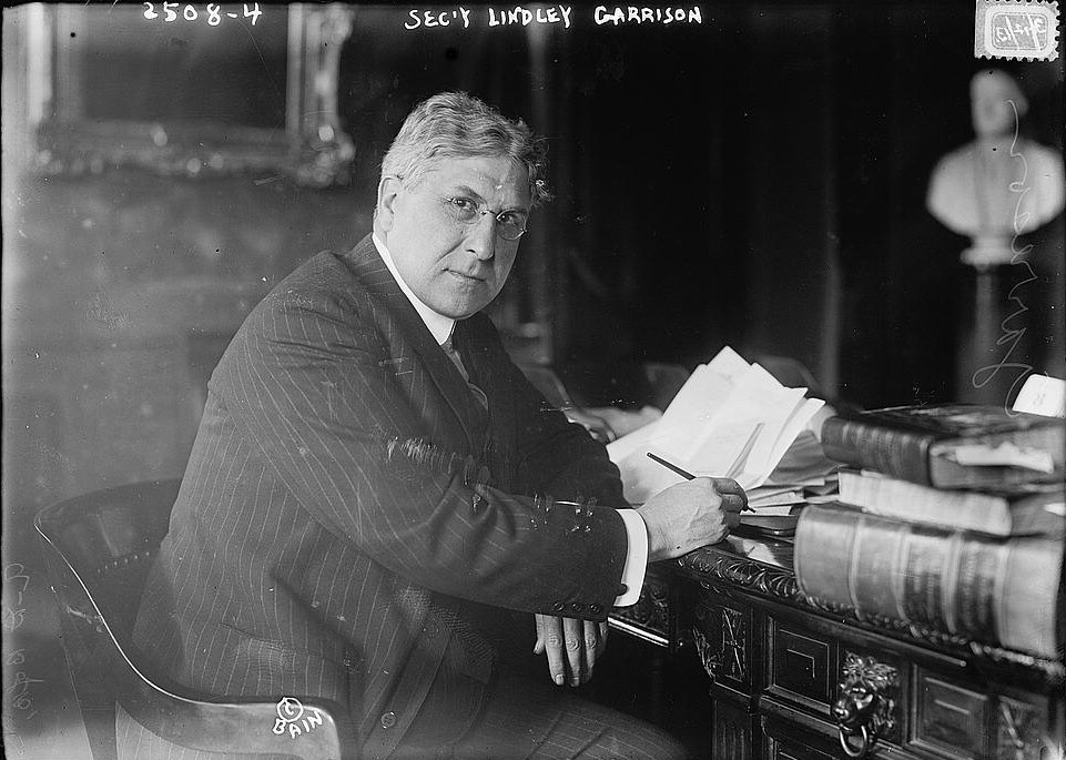 Lindley Garrison had served as US Secretary for War in President Woodrow Wilson's cabinet since 1913.