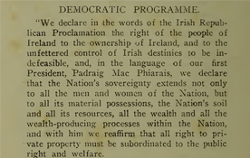 Explainer -The Democratic Programme of the First Dáil