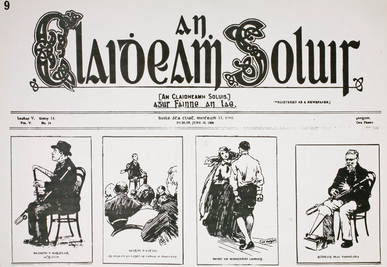How to read and write gaelic - Front Page Of An Claidheamh Soluis The Gaelic League S Weekly Newspaper From 13 June 1903 Image National Library Of Ireland