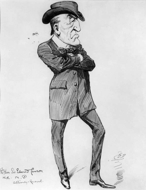 Wherever Sir Edward Carson (above) and his merry men go, I will go afterwards' – John Redmond tells supporters