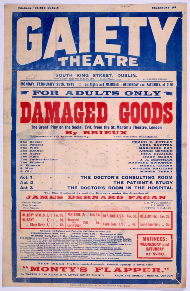 Ed 120 Gaiety Theatre 1918 Advertisement