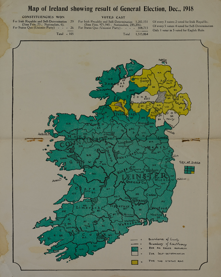 Map Of Uk General Election Results.Prelude To Partition Or A Republic The 1918 Election In Ireland