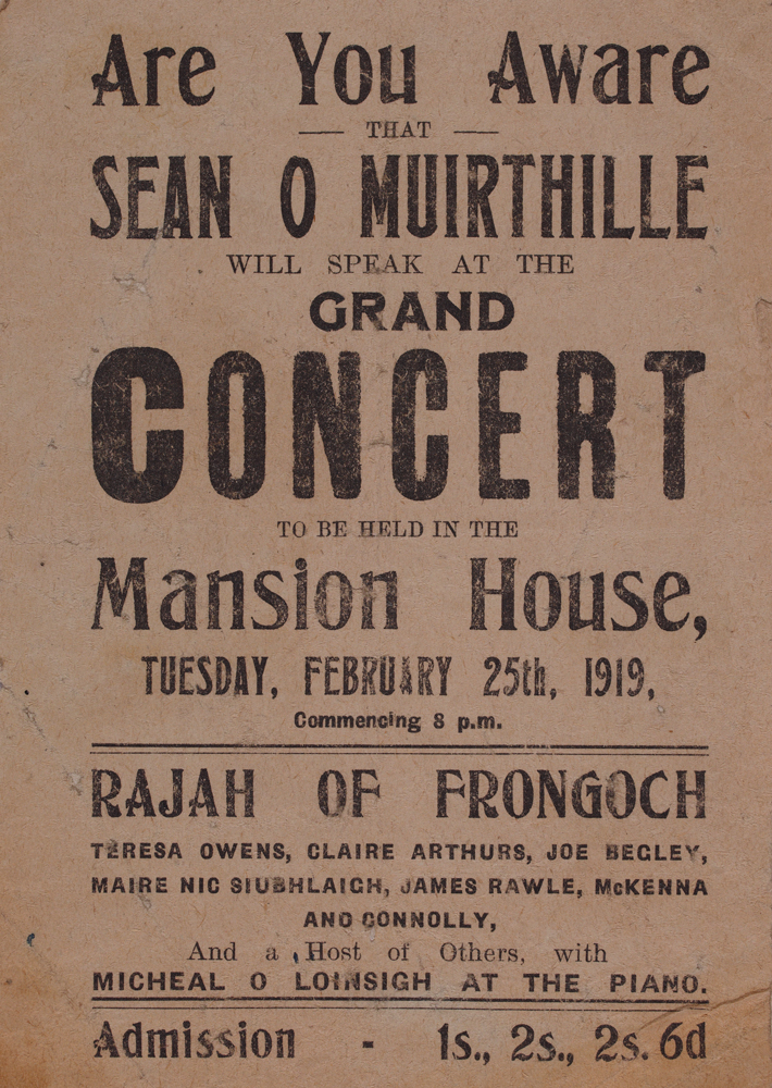 Sean O' Muirthille Concert Advertisement