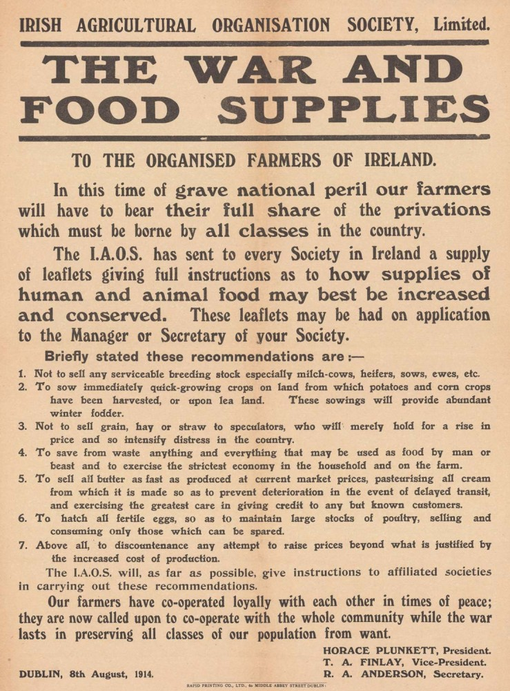 Food and War Ad Advertisement