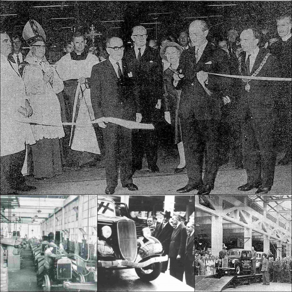 34e547b867 A look at the Ford factory throughout the years - Top  Jack Lynch opens the  new extension to the factory in 1967. (Image  Irish Press) Bottom