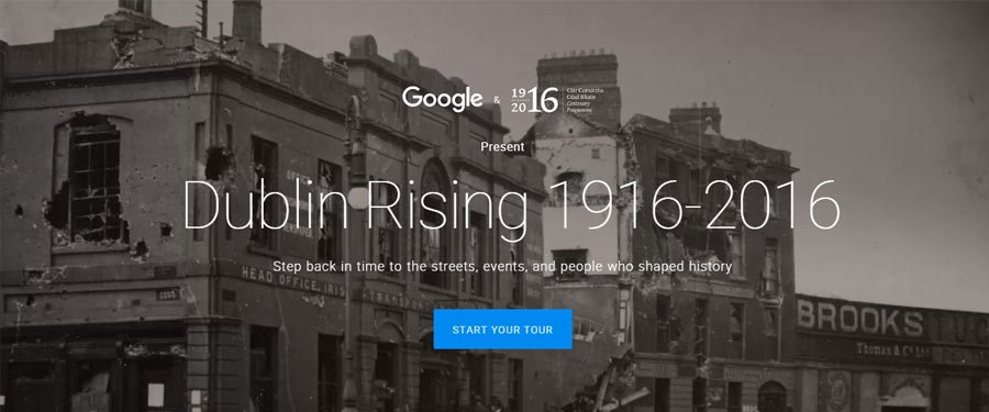 RTÉ News: Dublin Rising 1916-2016: A Street View Tour from Google